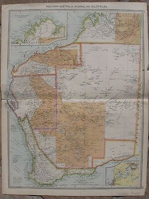 c1905 Three Antique Maps - WESTERN AUSTRALIA - Gold Fields - Perth - G. Philip