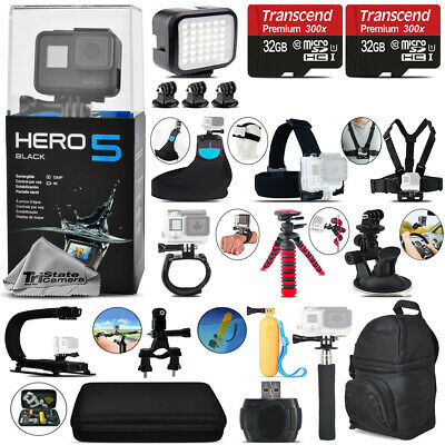 GoPro Hero 5 Black 4K Ultra HD Action Camera CHDHX-501 + 64GB All You Need Kit