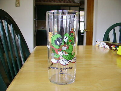1994 warner bros looney tunes marvin the martian and k-9 glass