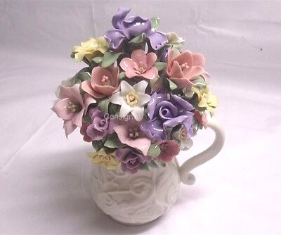 San Francisco Music Box Company Anna Rosa Collection Flower Bouquet In Vase