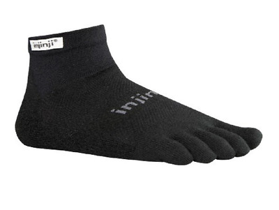 Injinji Performance 2.0 Run Original Mini-Crew CoolMax XtraLife Toe Socks Bk M