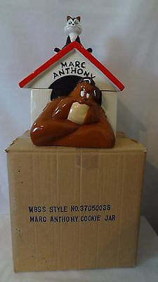 Warner Brothers 1995 Marc Anthony Dog And Pussyfoot The Cat Cookie Jar MIB #H957