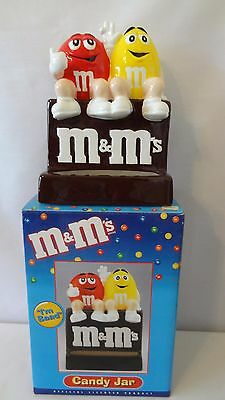 "Benjamin and Medwin 1999 ""I'm Baad"" ""Nuts"" M&M's Candy Jar MIB #J87"