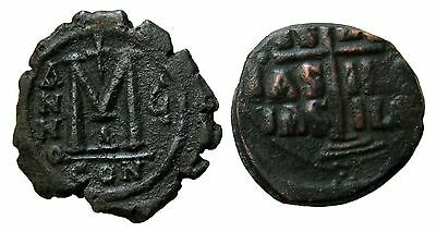 AE 40 NUMMI from JUSTIN II and ANONIMOUS FOLLIS from BASIL II  24,5g/30mm  M-565