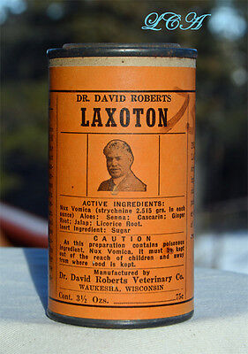 Dr DAVID Roberts LAXOTON for LIVE STOCK advertising TIN for CATTLE and HORSES