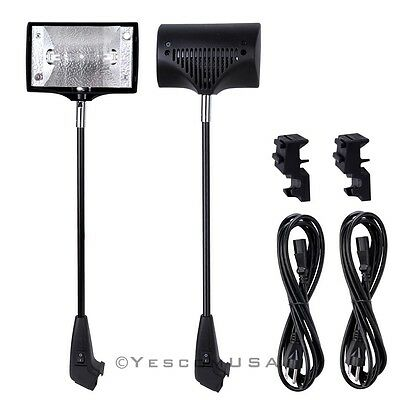 2x 150w Halogen Spot Lights w/ Bulb For Trade Show Display Pop Up Banner Booth