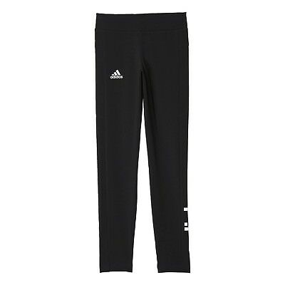 Adidas CHILDREN´s Girl´s Gym Training Trousers Linear Tight Black/White