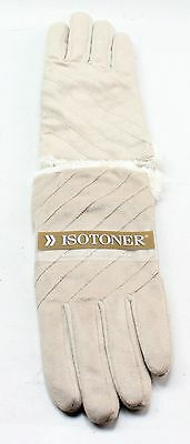 New With Tags Women's ISOTONER Beige Winter Microfiber Gloves Size L