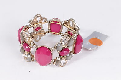 $70  Lydell jewelry design studio Women's Wristband Pink/Gold One size NWD