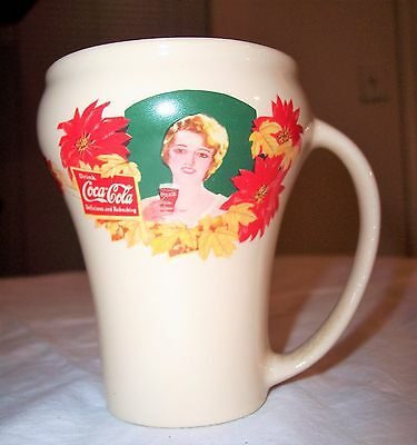 Vintage Christmas Holiday 1990 Ladies of Coca-Cola Coke Brand Drinking Mug Cup