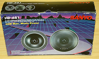 Vintage Sanyo HD-681 Car Audio Speakers - New In Box