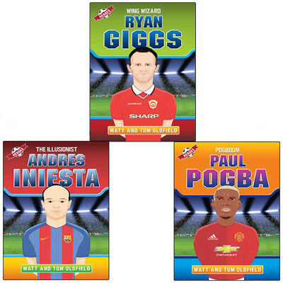 Tom Oldfield and Matt Oldfield 3 Books Collection Set (Ryan Giggs,Paul Pogba)NEW