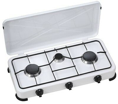 Gas Cooker Camping Cooker Outdoor 3-flammig Tent Camp Camper Camping Stove