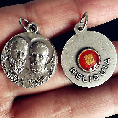 """1Silver Catholic/Christianity Relic Medal 1.2"""" Rosary necklace italy PENDANT"""