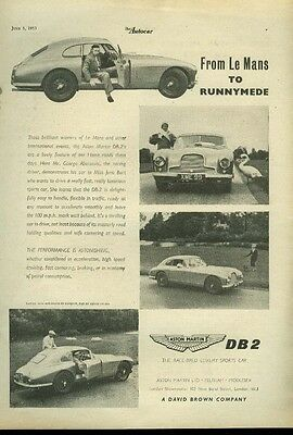 From Le Mans to Runnymede Aston Martin DB-2 ad 1953