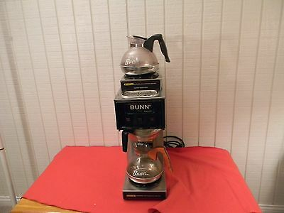 Bunn Commercial 3 Burner Pour Omatic Coffee Maker Brewer Model S with 3 Pots