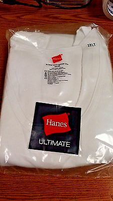 Hanes Mens Tank Tops White *pack Of 3* Sizes Lt-6Xlt Plus Size  New In Package