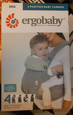 ErgoBaby 360 4 Position Baby Carrier GREY/TAUPE BC360GRYTAU1NL NEW! FREE SHIPP!