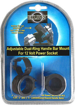 Eklipes Adjustable Dual-Ring Handlebar Mount for Cellphone/GPS Adapter Black