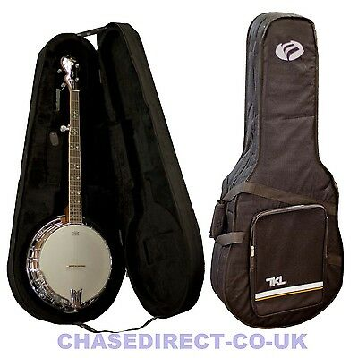TKL Foam Hard Case With Black Soft Padding & Shoulder Straps For 5-String Banjo