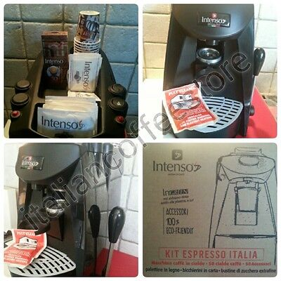 """New """"INTENSO PIDO"""" ESE Coffee Machine With Free 50 Eco Friendly Kit"""