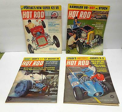 Hot Rod Magazine March, April, May, June 1963 Four-Issue LOT!