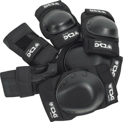 TSG BASIC PAD SET M-BLACK knee,elbow,wrist