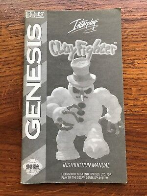 Clay Fighter Clayfighter Sega Genesis Game Instruction Manual Only