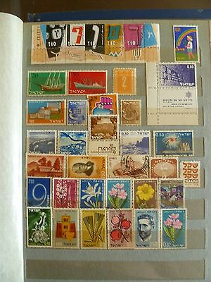 Israel, old stamp collection, including 3 MNH S/Sheets, see 2 scans.