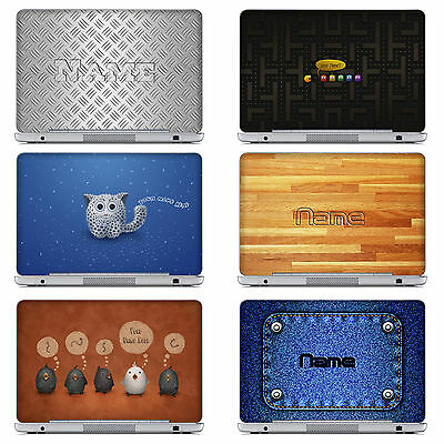 Unique Laptop Notebook Skin Sticker With Customized Name For DELL HP ASUS & More