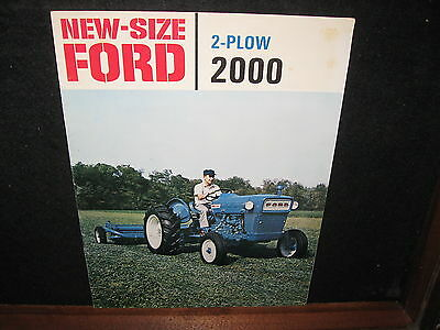 Vintage Old Ford 2000 2 Plow Tractor Sales Brochure Farm Advertising Adv