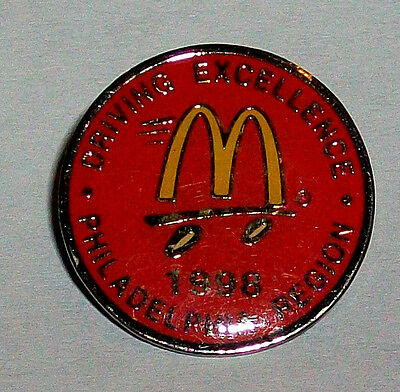 1998 Driving Excellence Philadelphia Region Collectible McDonald's Employee Pin