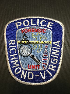Richmond Virginia Forensic Unit  Police  Shoulder  Patch
