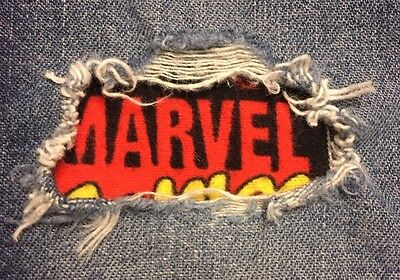 """Set of 2 Marvel Comics 4"""" x 4"""" Iron on Peek-A-Boo Jean Patches"""