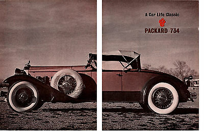 1930 Packard 734 Boattail Speedster ~ Great 5-Page 1963 Article / Ad