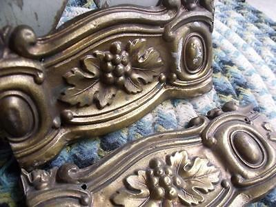 3 Primitive Pieces of Antique Pressed Brass Molding Architectural Salvage