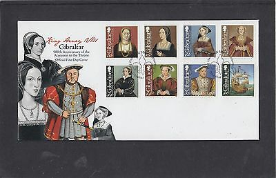 Gibraltar 2009 Henry VIII Accession First Day Cover FDC Gibraltar special pmk