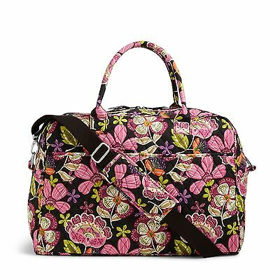 Vera Bradley Weekender Pirouette Pink Travel Luggage Bag Nwt