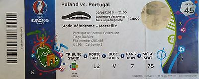 TICKET Names UEFA Euro 2016 Poland vs Portugal Match 45