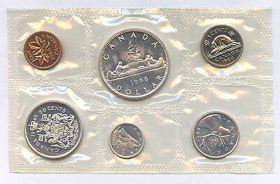 1966 Canada 6 Coin Uncirculated Royal Canadian Mint Set 1.11 oz. Silver