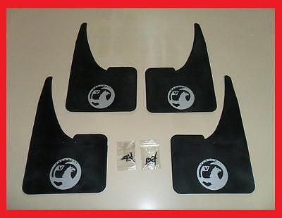 NEW Silver Vauxhall Mudflaps + fittings FULL SET OF 4