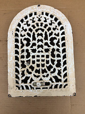 Vintage Cast Iron Heating Grate - Arched