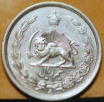 Iran, SH1313 (1934) 1/2 Rial, silver, About Uncirculated - UNC              8ngm