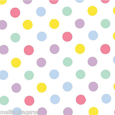 Dots Pastel Tissue Paper Multi Listing 500x750mm