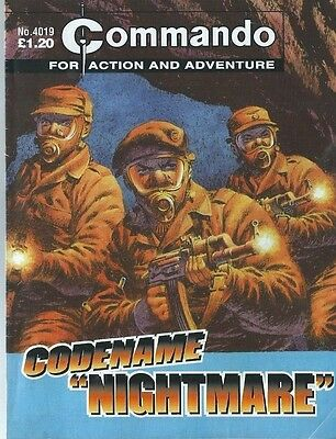 "Codename ""nightmare"",commando For Action And Adventure,no.4019,war Comic,2007"