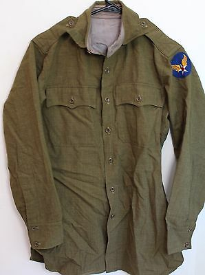 Original US WWII AAF Army Air Force Officer's Shirt W/ Epaulets