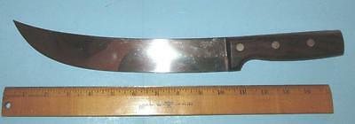 Vintage Wear-Ever Large Stainless Kitchen Knife #69410-10  Ten Inch Curved Blade