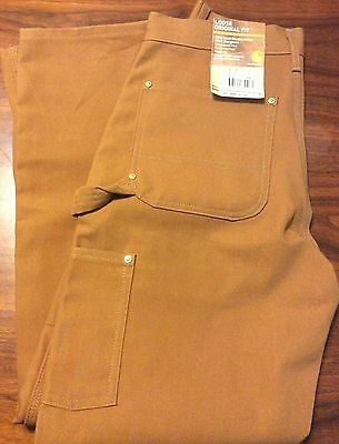 Carhartt Firm Duck Double Front Work Dungaree 31 X 30 Loose Original Fit NEW
