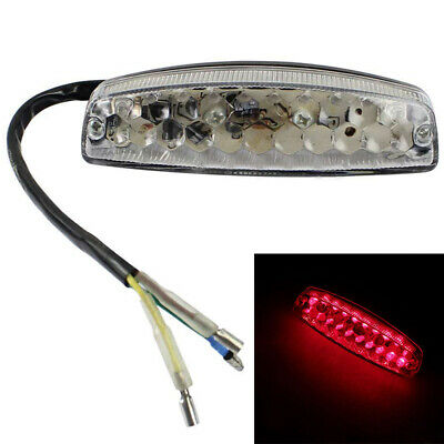 Brake LED Motorcycle ATV Dirt Bike Stop Running Tail Light Universal 12V Clear