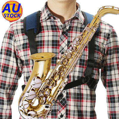 AU Adjustable Universal Tenor Baritone Sax Saxophone Harness Shoulder Strap Hook